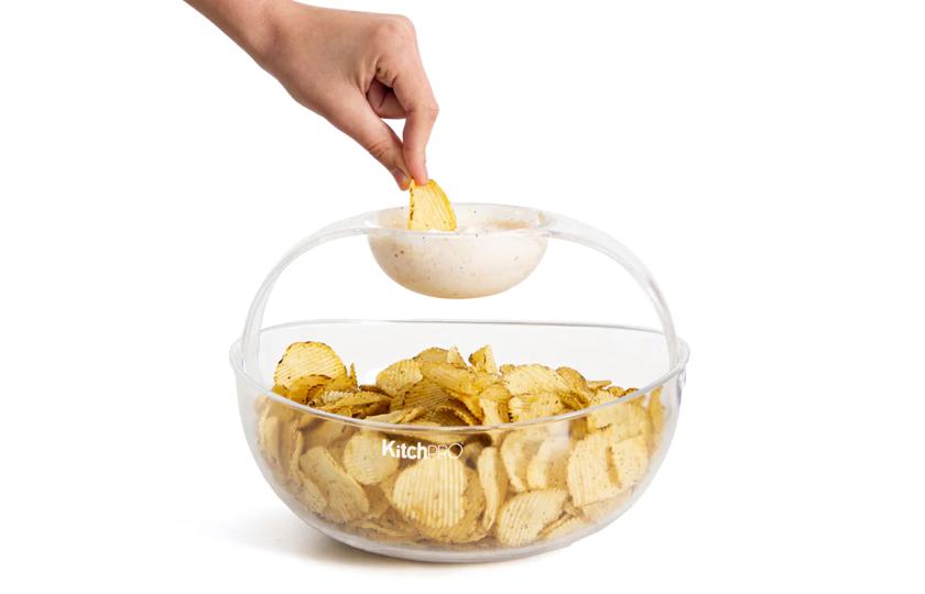 Chipsskål med dipholder