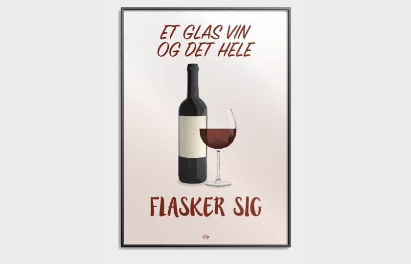 Et glas vin plakat