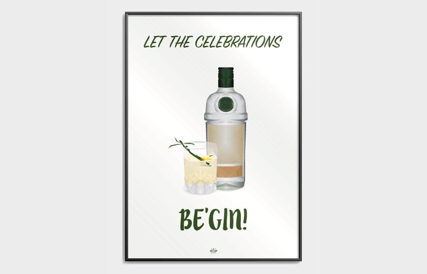 Gin plakat til hende iu julegave