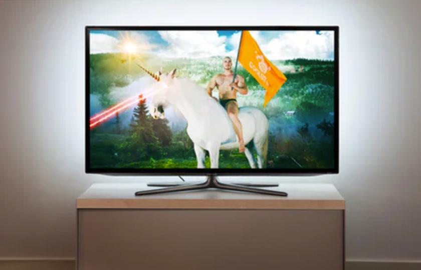 Lys til bag fjernsyn