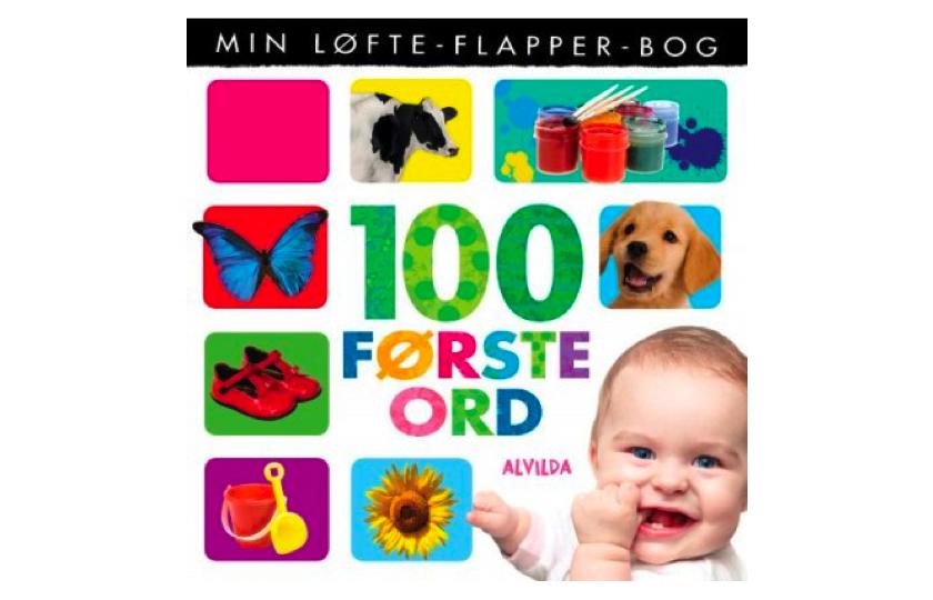 Min Løfte-Flapper-Bog - 100 Første Ord - Bog