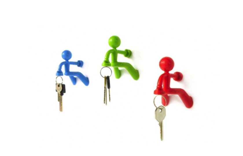 Key Pete nøgleholder mand rød