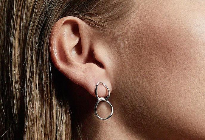 Pilgrim øreringe i sølv