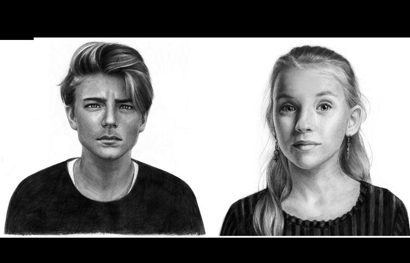Portrættegning af børn