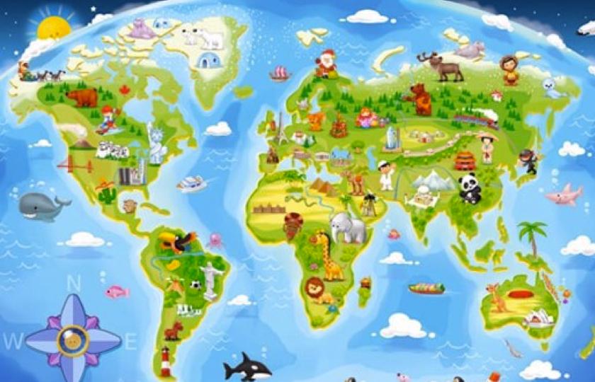 Puslespil med verdenskort