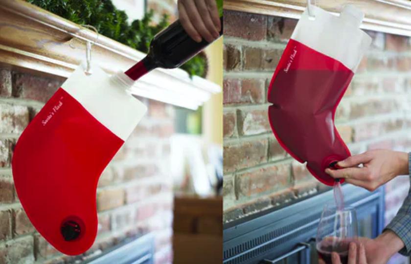 Santas bag-in-sock vinskjuler