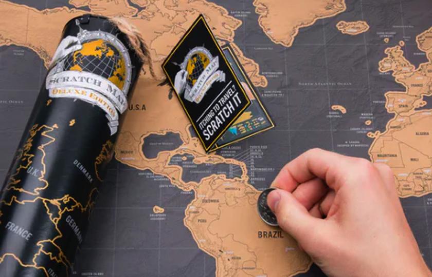 verdenskort til rejser