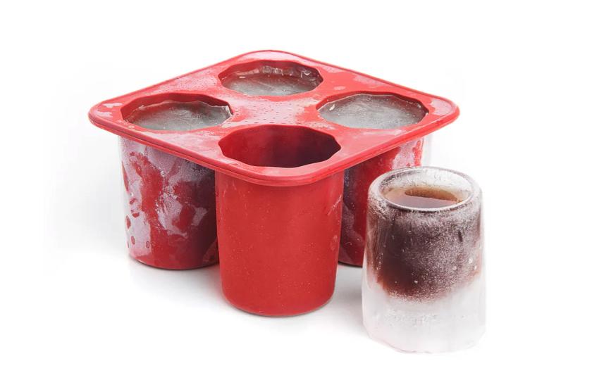Rød form til is-shotsglas