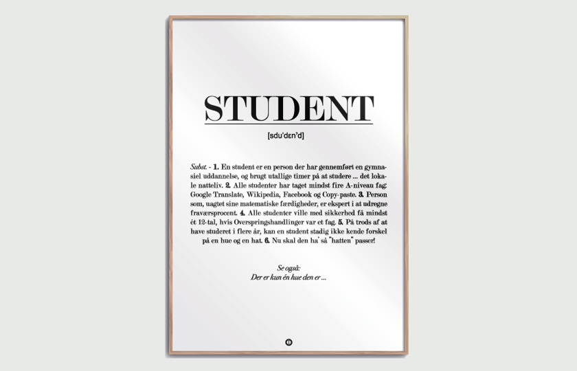 Definition af en student