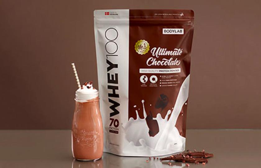 proteinpulver med chokolade