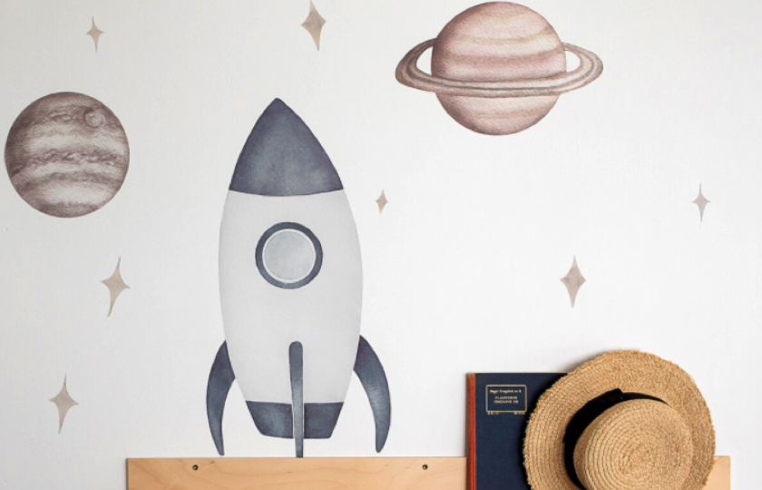 wallsticker med raket
