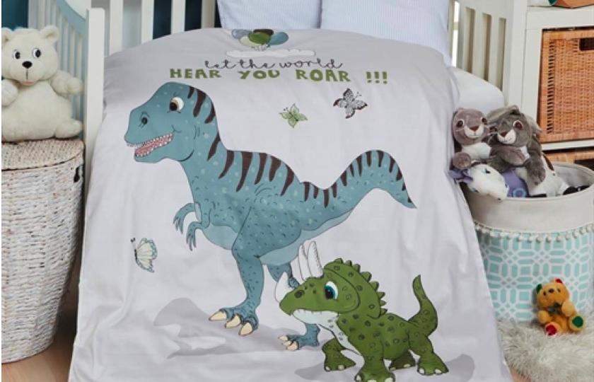 junior sengetoej med dinosaur