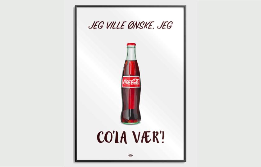 citatplakat med cola