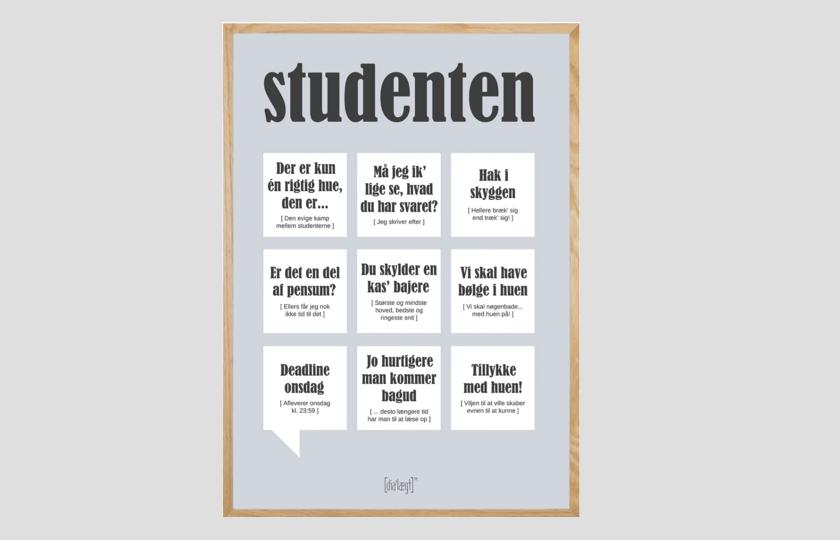 plakat med student citater