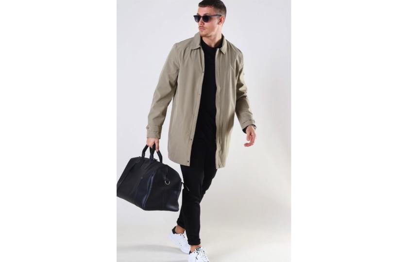 lang beige jakke