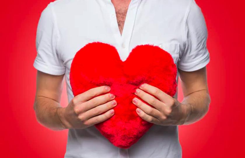 roed hjerte varmepude