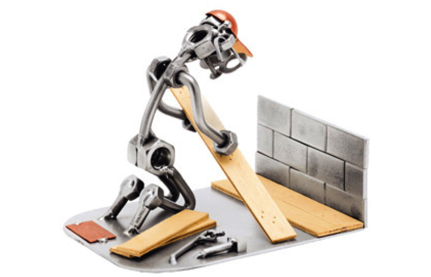 metalfigur kunst gulvlaegger