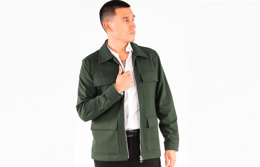 groen skjortejakke