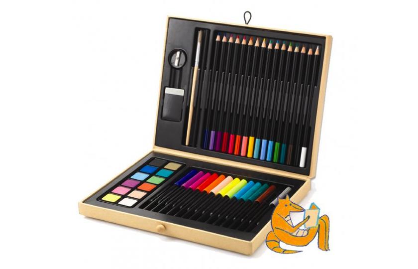 kuffert med farvesaet