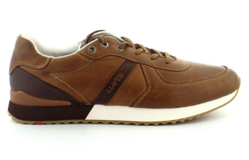 brun skind sneakers