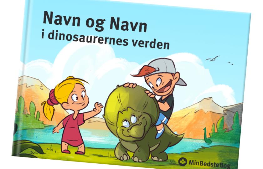 personlig bornebog dinosaur