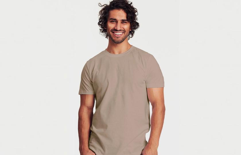 beige oekologisk tshirt