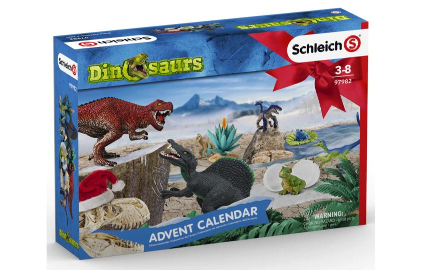 pakkekalender med dinosaurus