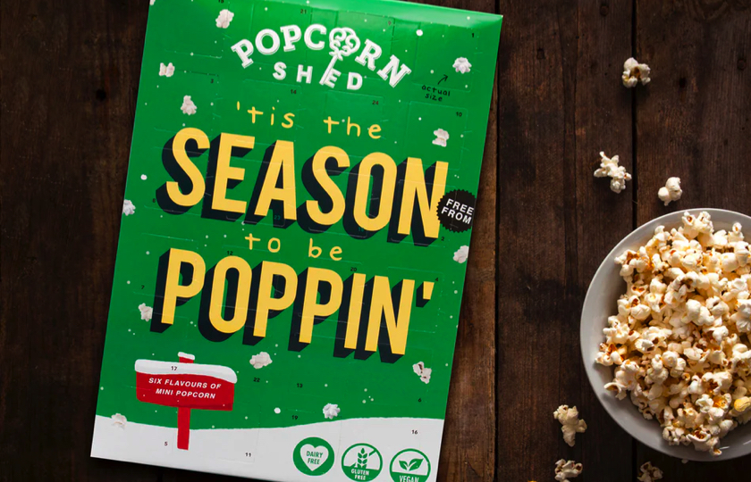 julekalender med popcorn
