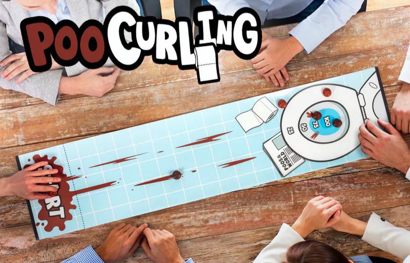 poo curling spil