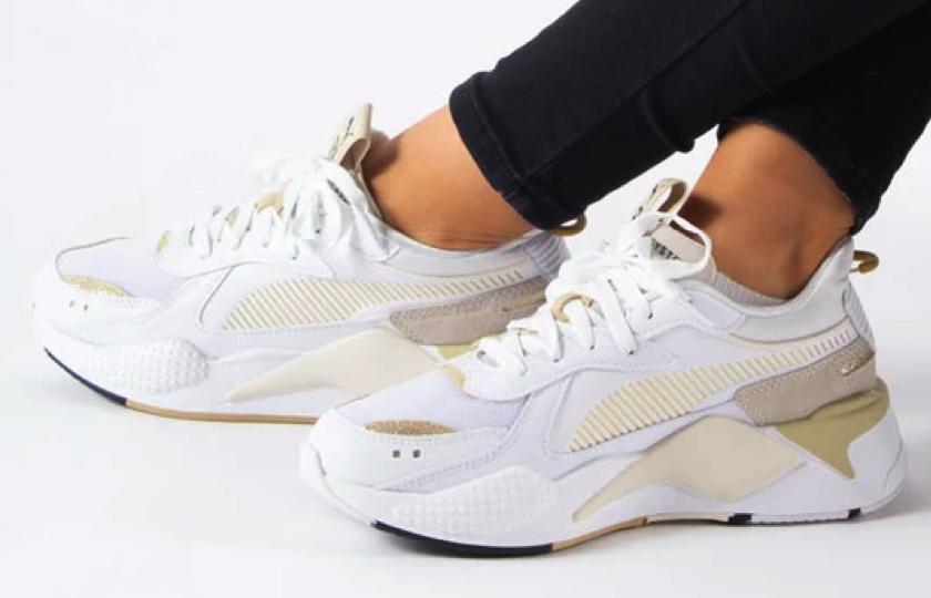 puma sneakers hvid guld