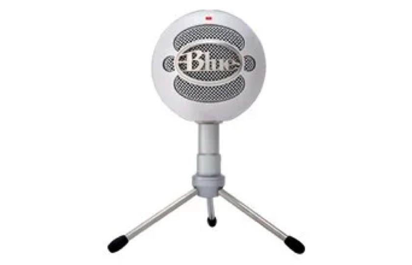 hvid snowball mikrofon