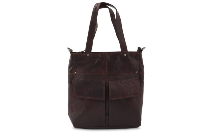 brun skind taske