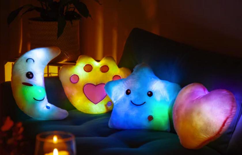lysende puder